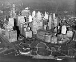 NYC Aerial, 1928, Battery Park